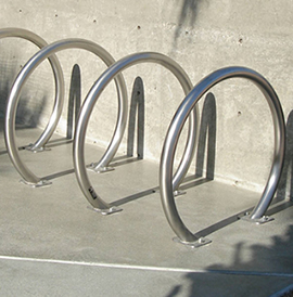 Horseshoe Rack, HS Series, Bicycle Rack - Model HS 2-F-SS