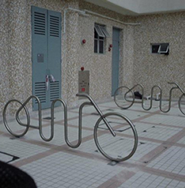 Tandem Rack, TD Series, Bicycle Rack - Model TD-8-F-SS