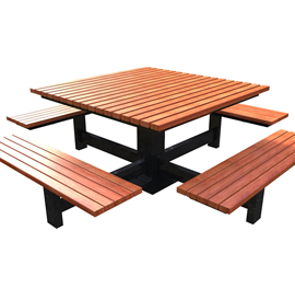 Model TB 6001-BL Table with backless seats