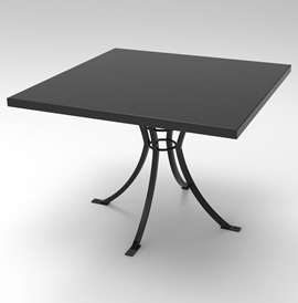 Model TB6006-C-SQ (Square Table Top) Cafe Tables