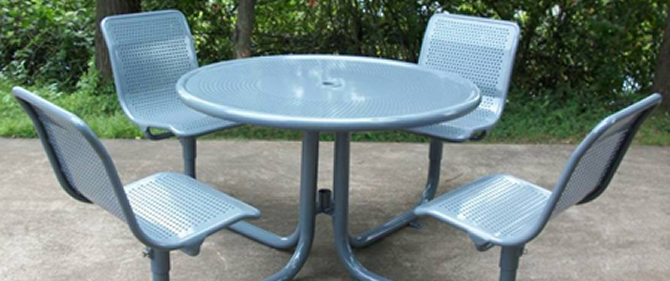 Piazza Series, PZPTB-PS-PS-4-F-P, Picnic Table and Seating