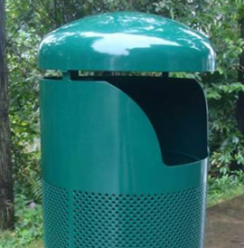 Decatur, DCT, Trash Receptacle - Model DCT-HT-PS-32-F-P-LDS