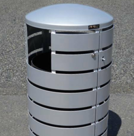 Sooner™, SNT™ Series, Trash Receptacles - Model SNT-FB-32-F-P- LD-SD