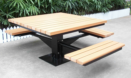 Cosmos CSPTB CSPTBL Square Picnic Tables - Ada picnic table requirements