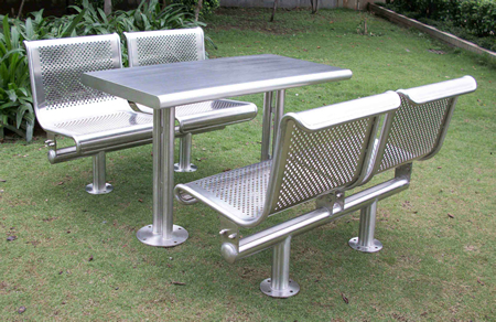 Encino Picnic Tables - Stainless steel picnic table