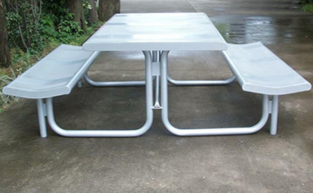 Encino II Picnic Tables - Stainless steel picnic table