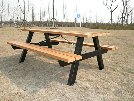 Parker Recycled Plastic Picnic Tables Model PRPT - Tubular picnic table frame