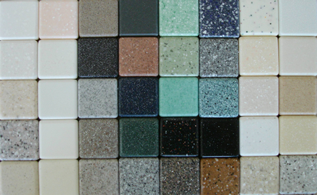 Solid Surface Acrylic Colors: Arranged From Left To Right, With Row 1 Being  The Top Row